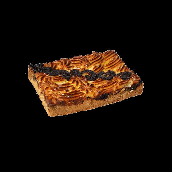 Пирог песочный с творожно-маковой начинкой